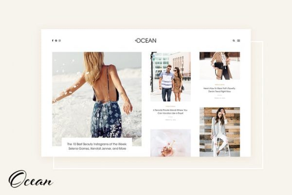 Ocean -  Enfes WordPress Blogu