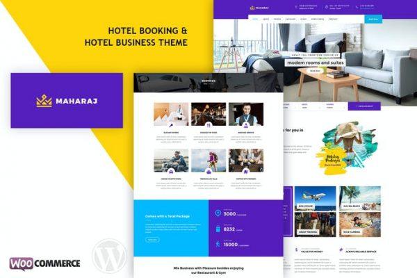 Maharaj Hotel - Otel Rezervasyonu WordPress Temasısı
