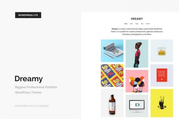 Dreamy Lite - Duyarlı Portföy WordPress Temasısı
