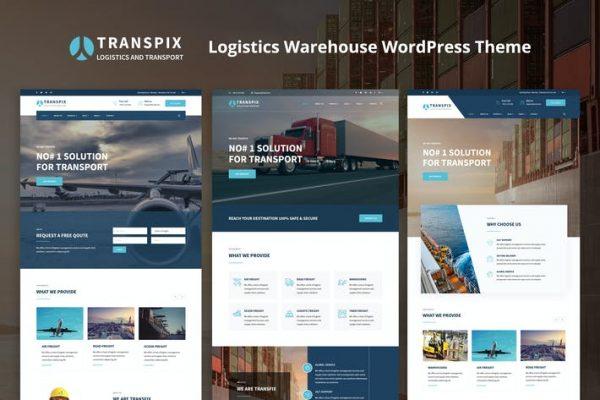 Transpix - Lojistik Deposu WordPress Temasısı
