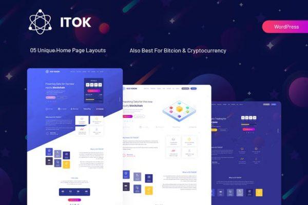 ITok -  ICO ve Kripto Para Birimi WordPress Temasısı
