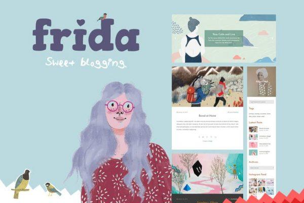 Frida - Tatlı ve Klasik Blog Temasısı