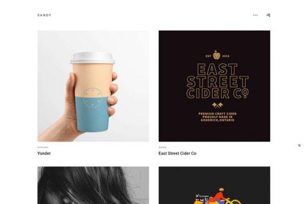 Sandy -  Minimal Portföy WordPress Temasısı