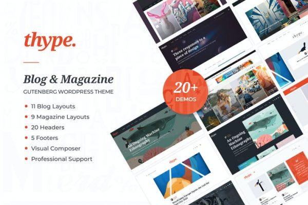 Thype -  Kişisel Blog ve Seyahat WordPress Temasısı