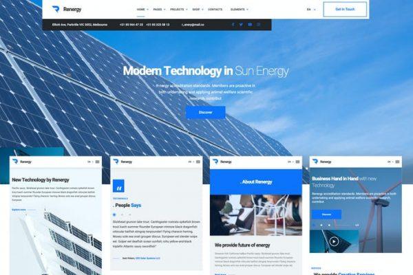 Renergy -  Elementor İş WordPress Temasısı