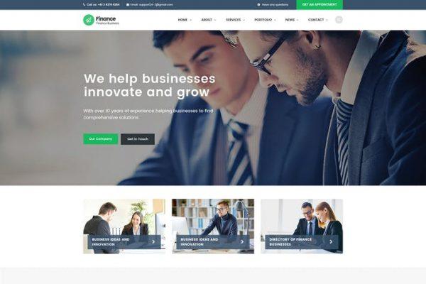 Finance - Danışmanlık, Muhasebe WordPress Temasısı