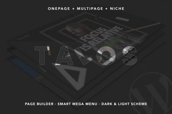 Talos -  Yaratıcı Çok Amaçlı WordPress Temasısı