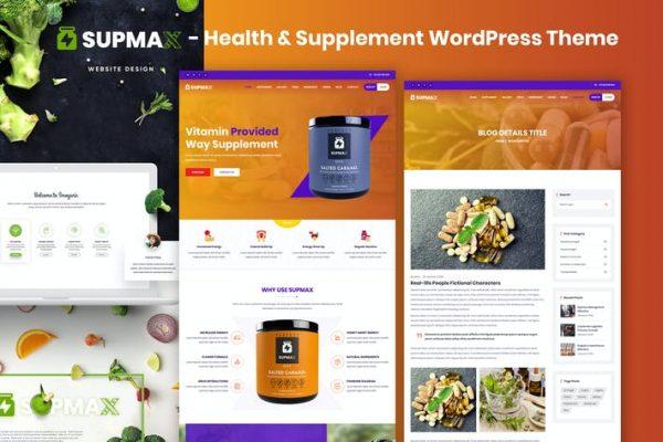 Supmax - Sağlık ve Takviye Elementor WordPress