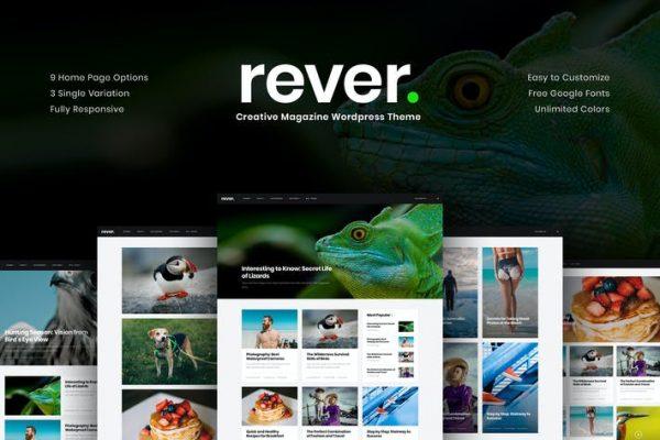 Rever -  Temiz ve Basit WordPress Temasısı