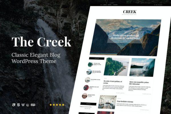 Creek - Klasik Zarif Blog WordPress Temasısı