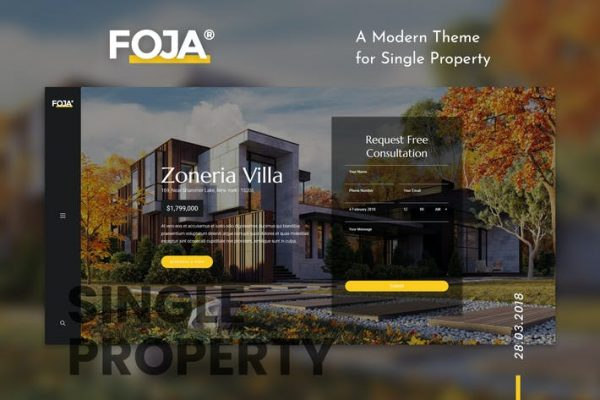 Foja - Tek Mülkiyet WordPress Temasısı