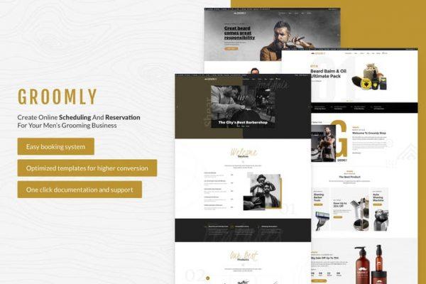 Groomly - Erkek Bakım WordPress Temasısı