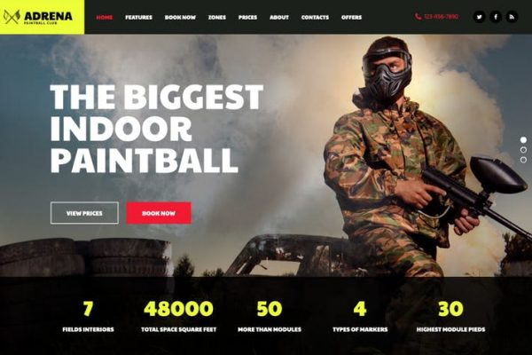 Adrena -  Airsoft Kulübü ve Paintball WordPress Temasısı
