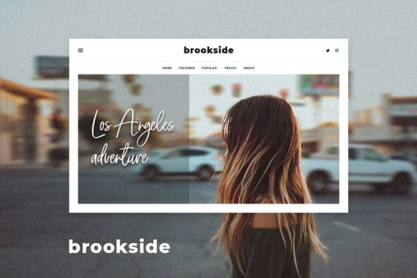 Brookside -  Kişisel WordPress Blog Temasısı