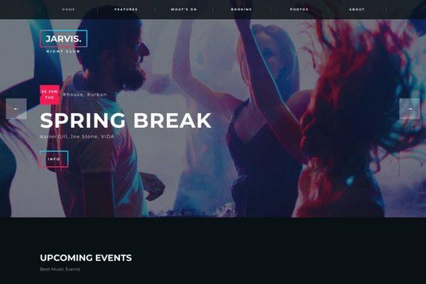 Jarvis -  Gece Kulübü, Konser, Festival WordPress