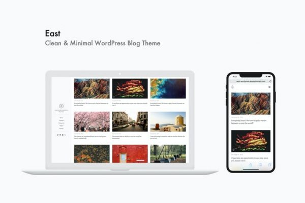 East -  Temiz ve Minimal WordPress Blog Temasısı