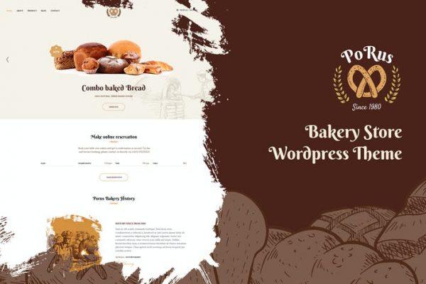 Porus -  Fırın Mağazası WordPress Temasısı