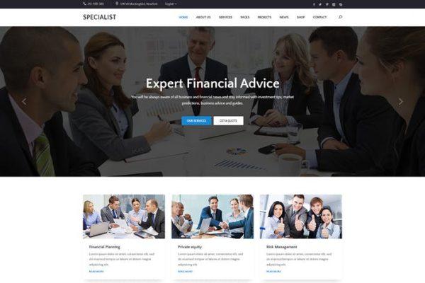 Specal -  Finans, Danışmanlık WordPress Temasısı