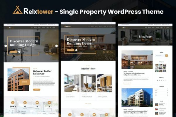 Relxtower -  Tek Mülkiyet Elementor WordPress