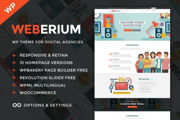 Weberium -  Dijital Ajans ve SEO WordPress Temasısı