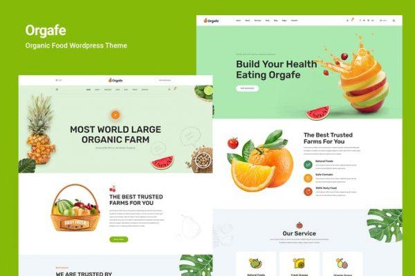 Orgafe - Organik Gıda WordPress Temasısı