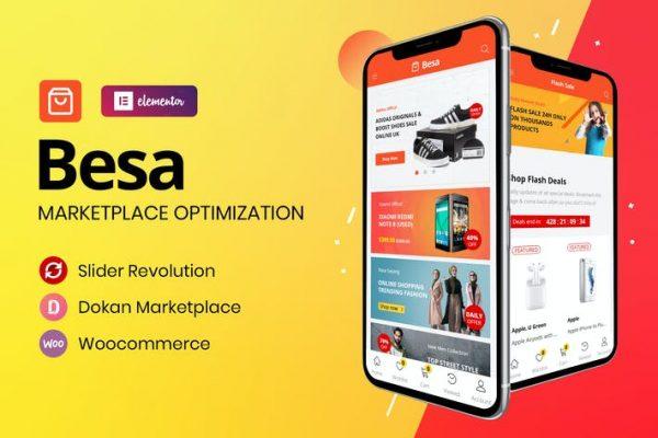 Besa -  Elementor Marketplace WooCommerce Temasısı