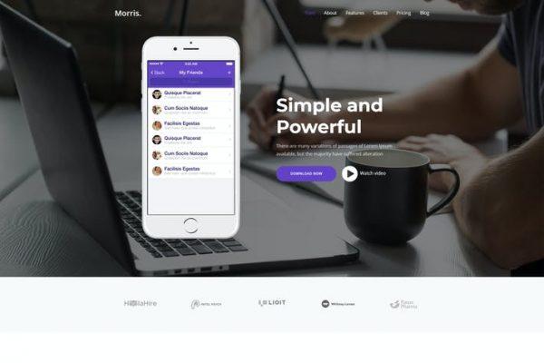 Morris - WordPress Uygulaması ve Ürün Açılış Sayfası