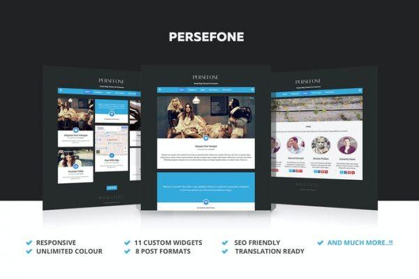 Persefone -  Duyarlı WordPress Blog Temasısı