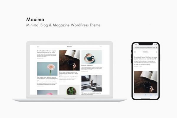 Maxima - Minimal Blog ve Dergi WordPress Temasısı