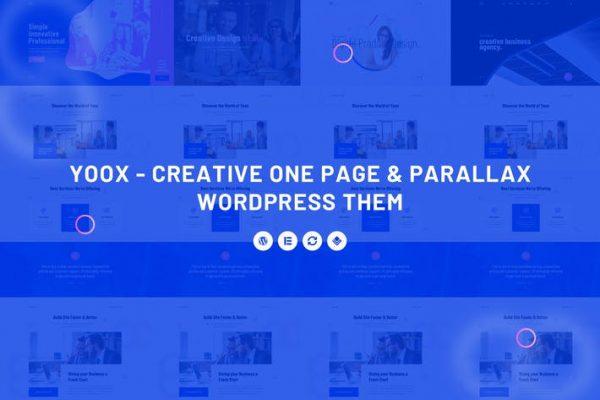 Yoox -  Yaratıcı Bir Sayfa ve Paralaks WordPress Onları