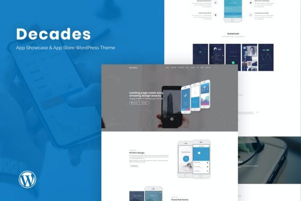 Decades -  Uygulama Vitrini ve App Store WordPress Temasısı