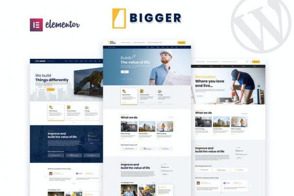 Bigger - İnşaat WordPress Temasısı