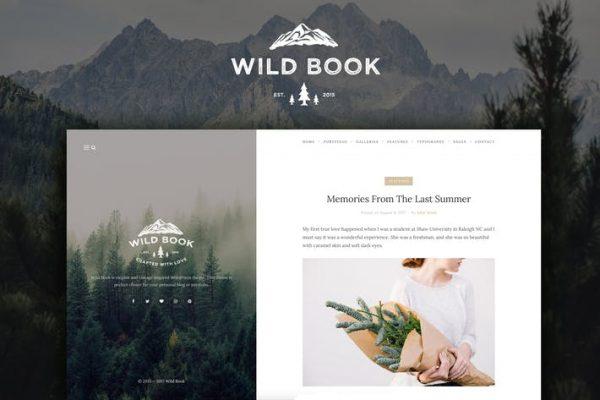 Wild Book - Vintage Blog ve Portföy Temasısı