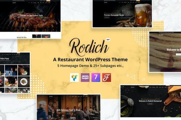 Rodich -  Bir Restoran WordPress Temasısı