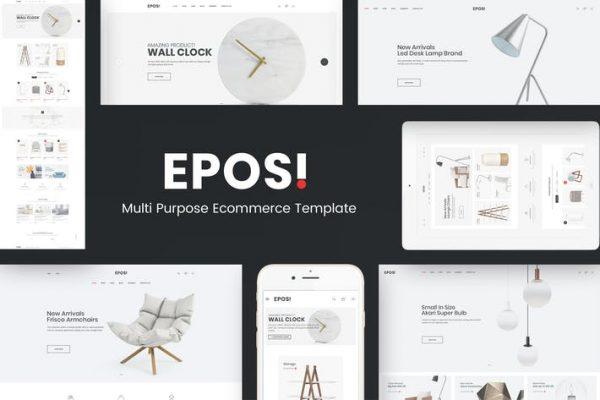 Eposi -  WooCommerce WordPress için Minimal Teması