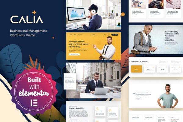 Calia -  İşletme ve Yönetim WordPress Temasısı