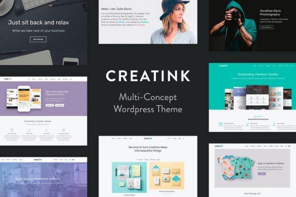 Creatink -  MultiConcept Duyarlı WordPress Temasısı