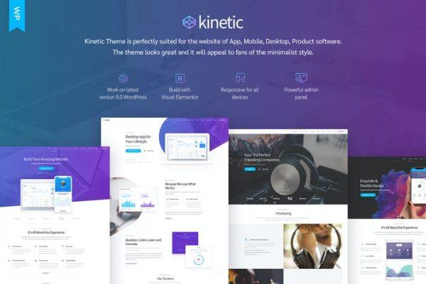 Kinetic - Masaüstü, Mobil ve Ürün Uygulaması WordPress