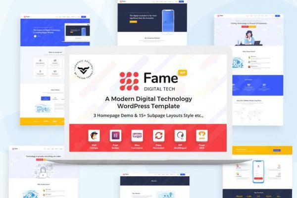 Fame -  Dijital Teknoloji / Hizmet WordPress Temasısı