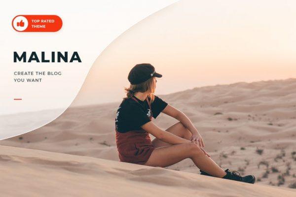 Malina - Kişisel WordPress Blog Temasısı