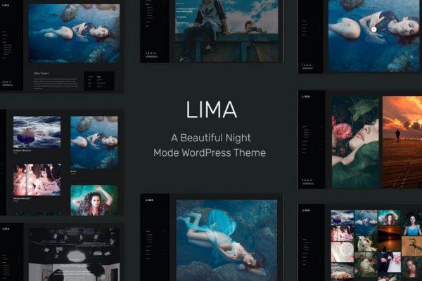 Lima -  Elementor için Gece Modu WordPress Temasısı