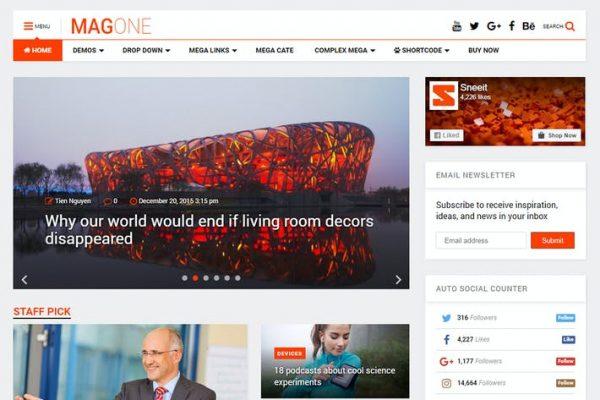 MagOne - Duyarlı Dergi ve Haberler WordPress