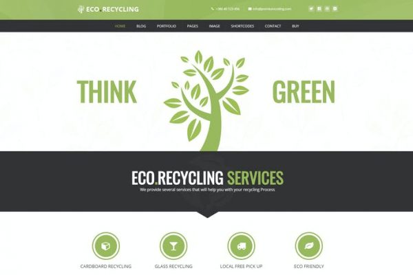 Eco Recycling -  Ekoloji ve Doğa WordPress Temasısı