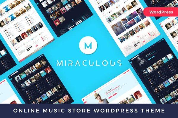 Miraculous -  Çevrimiçi Müzik Mağazası WordPress Temasısı