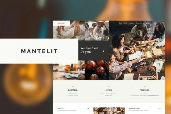 Mantelit -  Restoran WordPress Temasısı