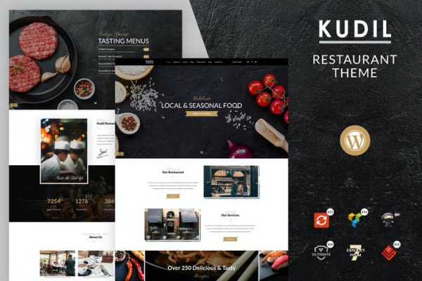 Kudil - Kafe, Yemek Restoranı WordPress Temasısı