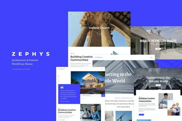 Zephys - Mimari ve İç Mekan WordPress Temasısı