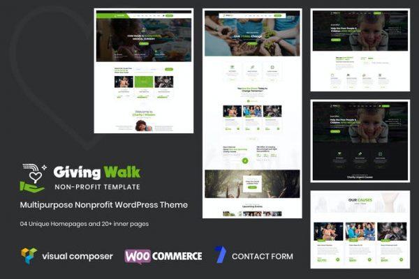 GivingWalk - Çok Amaçlı Kâr Amacı Gütmeyen Kuruluş WP Temasısı