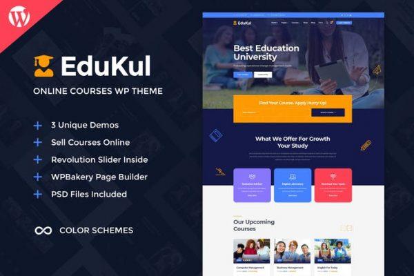 Edukul -  Çevrimiçi Kurslar WordPress Temasısı
