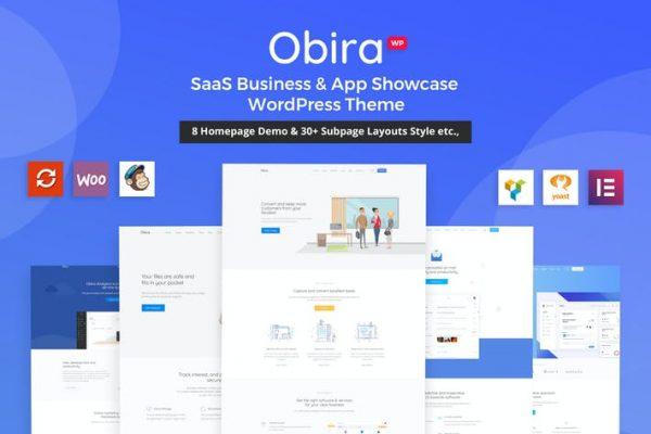 Obira -  SaaS Business & App Vitrin Temasısı